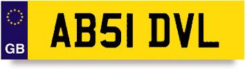 Car Registration Plates For Sale Uk